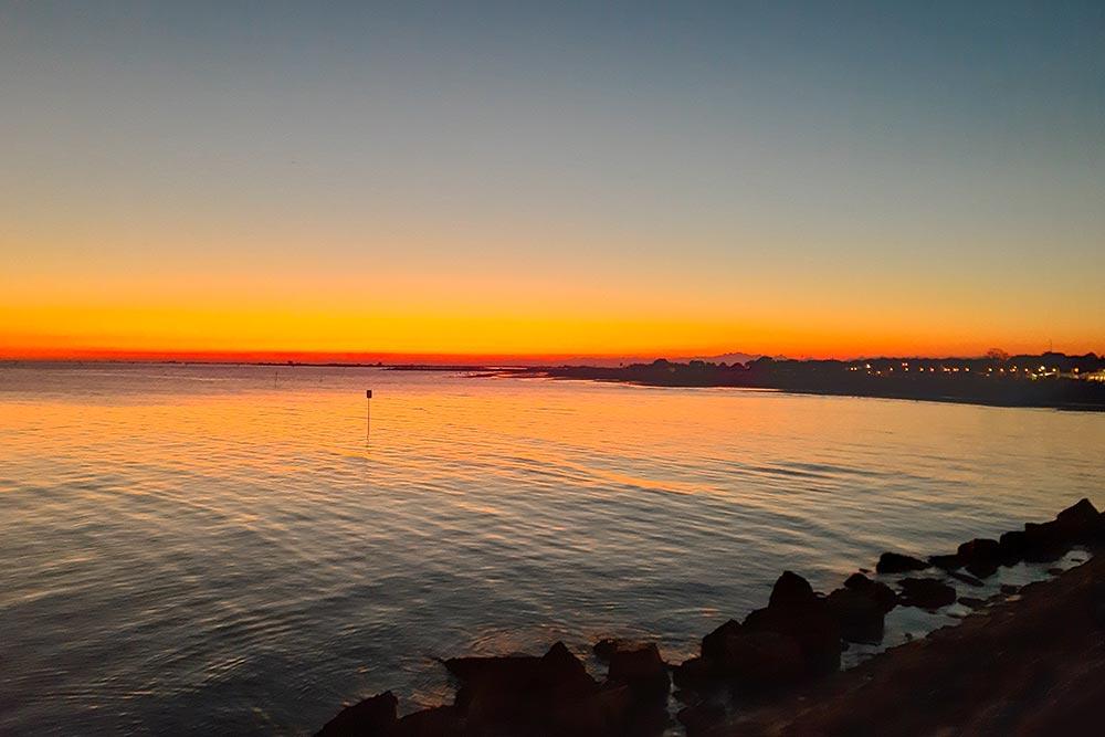 Italien-Sonnenuntergang